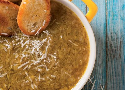 Zuppa di cipollotti alla francese