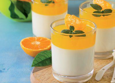 Panna cotta alle clementine